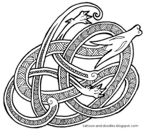 Unpleasant associations for anglo saxon artwork tattoos for Saxon warrior tattoos