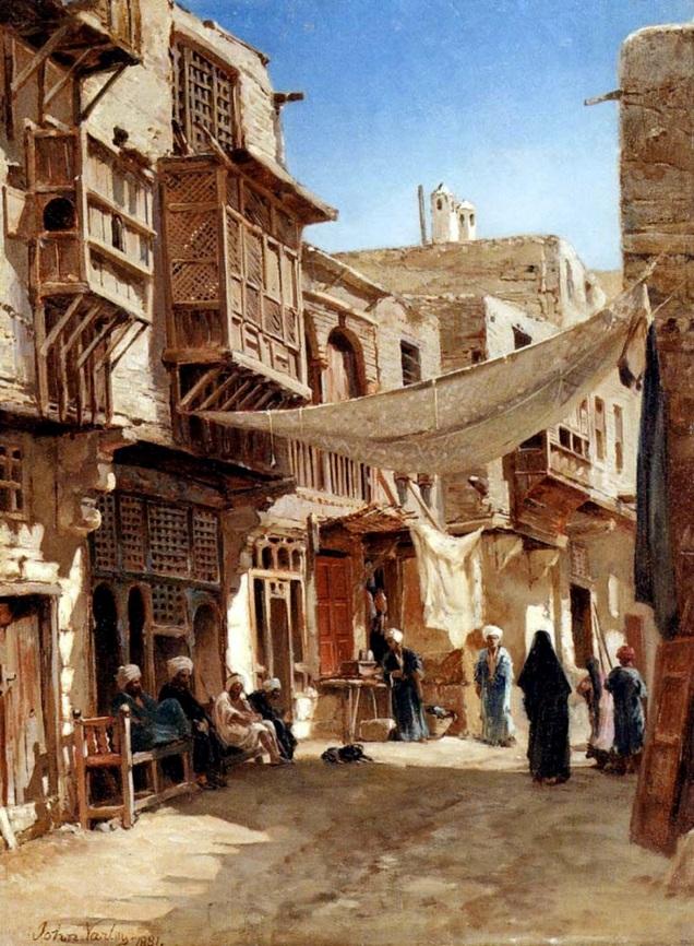 John Varley - A Street In-Boulaq Near-Cairo