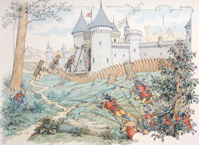 Duguescelin erobert Fougeray/ n.P.Sémant - Duguescelin conquers Fougeray/af. Sémant - Du Guescelin/Prise de Fougeray/P.Sémant